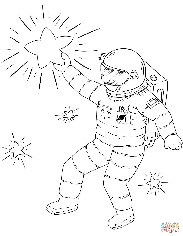 אסטרונאוט לצביעה