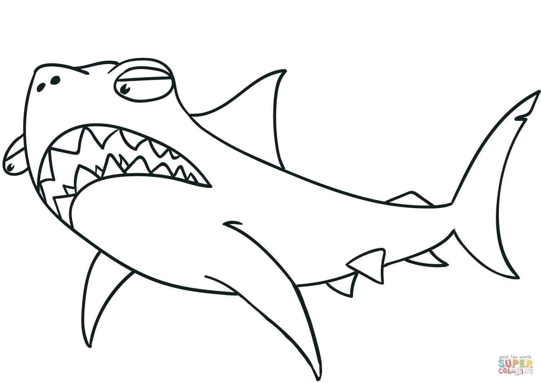 כריש מפחיד לצביעה