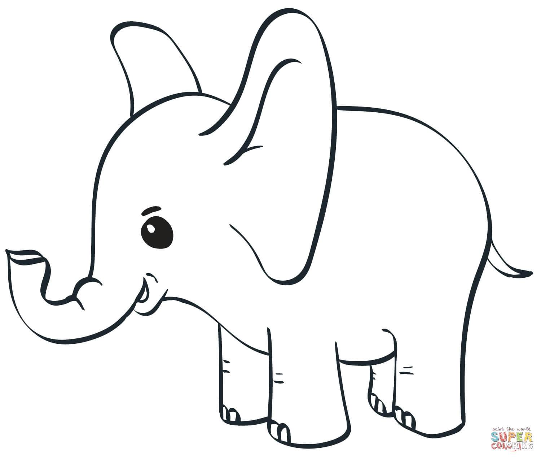 פיל קטן לצביעה
