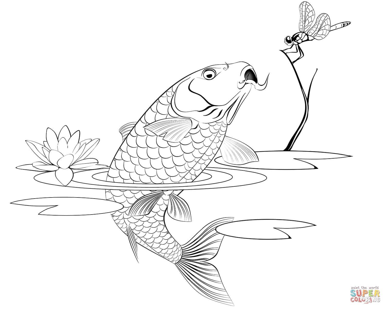 דג במים לצביעה