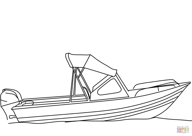 סירת מנוע לצביעה
