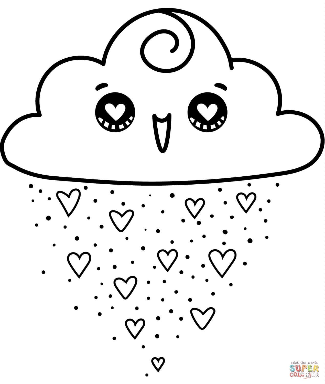 גשם לבבות לצביעה