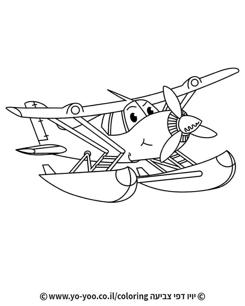 דף צביעה  מטוס ימי