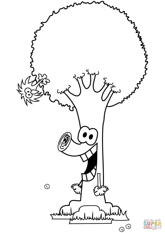 עץ מצויר לצביעה