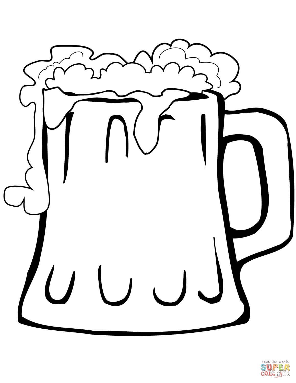 כוס בירה לצביעה
