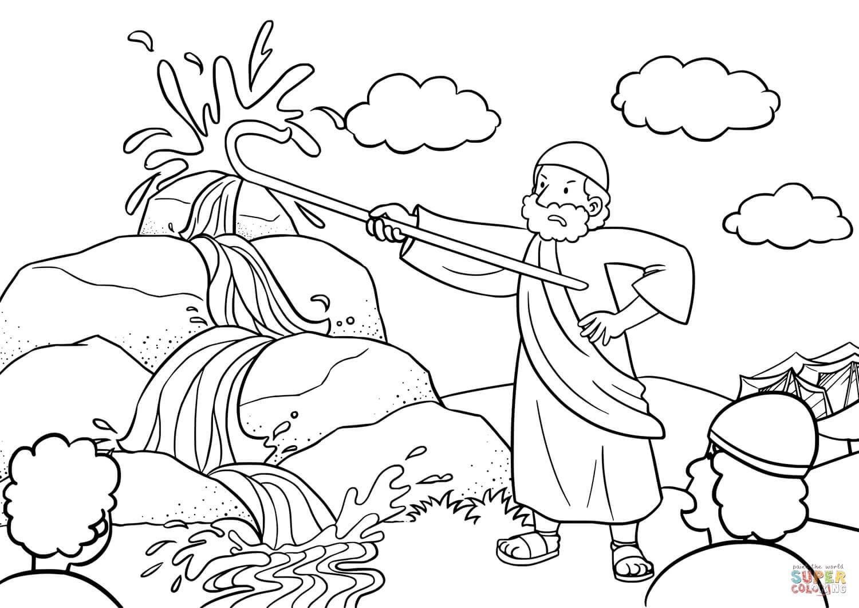 משה מכה בסלע לצביעה