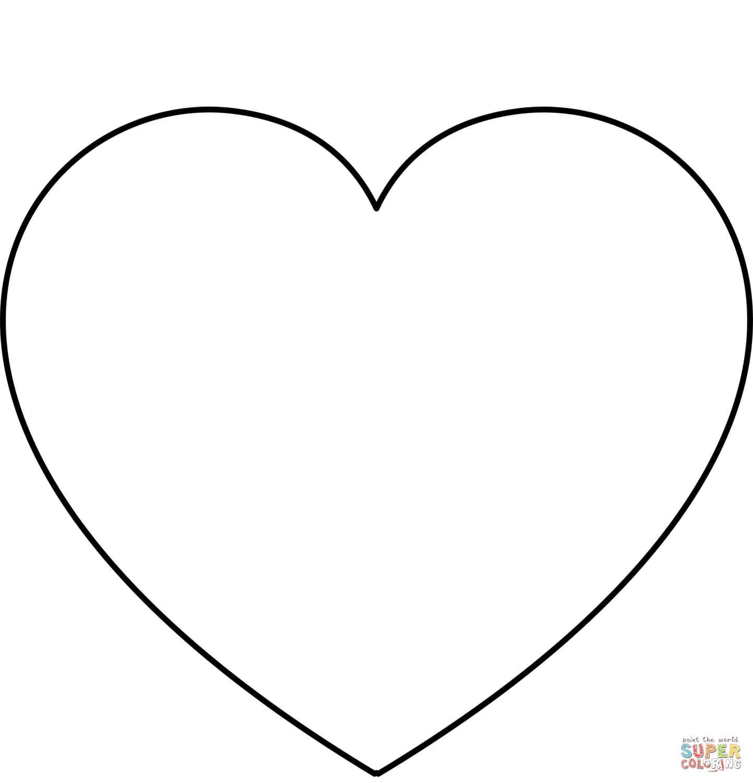 לב פשוט לצביעה