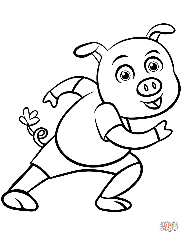 חזיר מצויר לצביעה