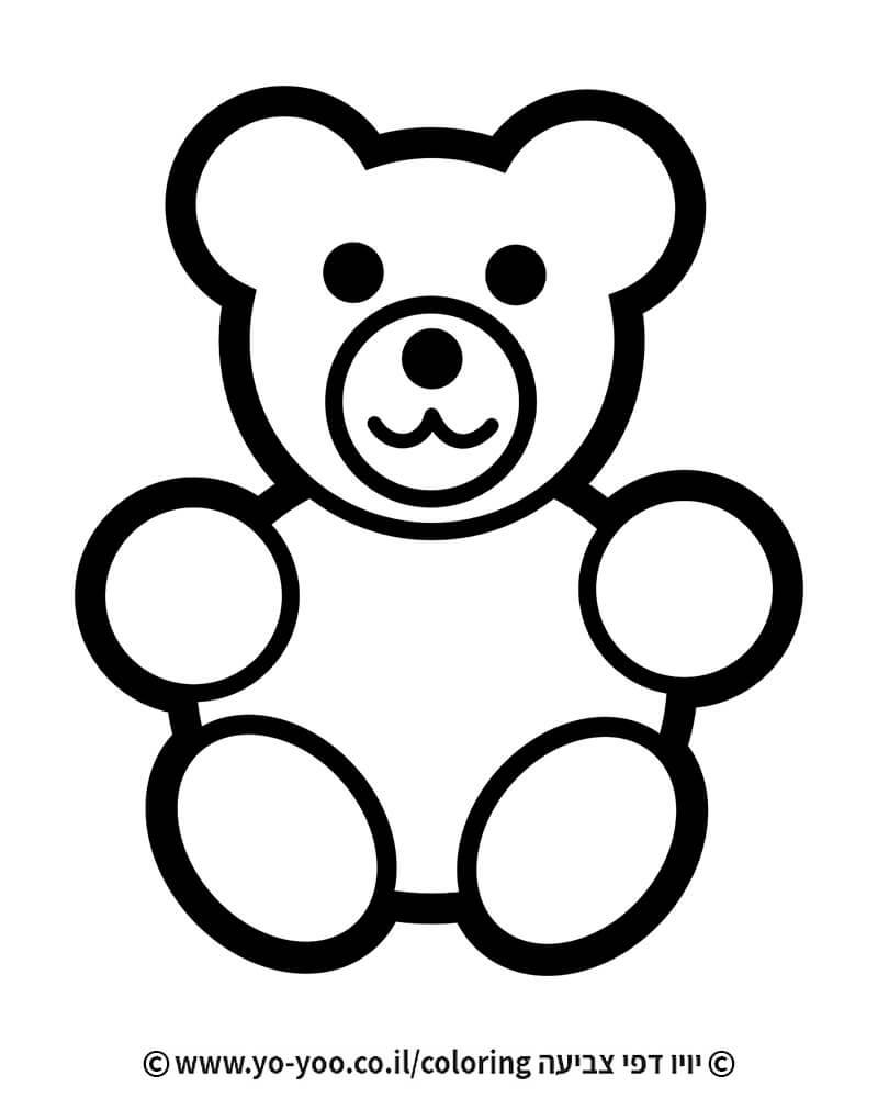 דף צביעה דובי