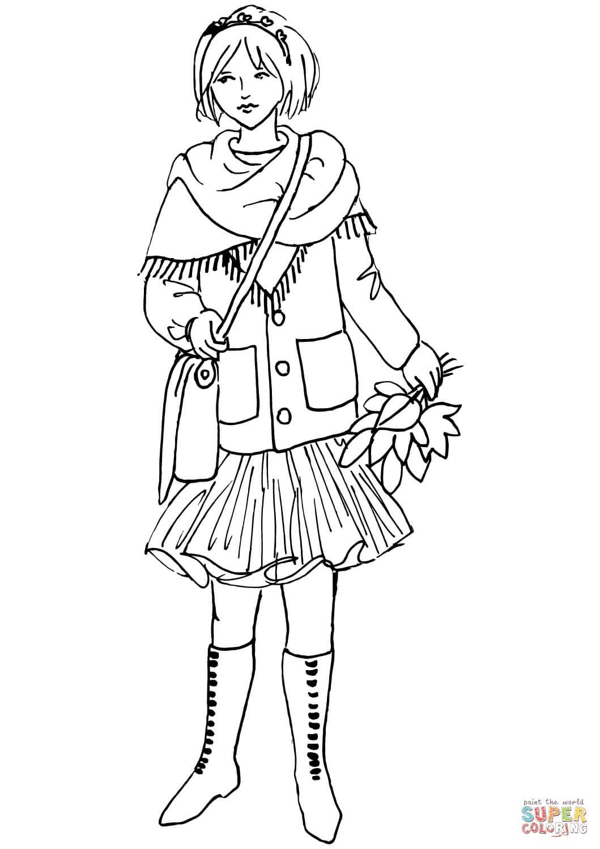 נערת הסתיו 2 לצביעה