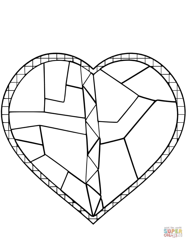 לב זכוכית לצביעה