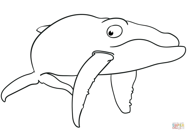 לוויתן מצויר לצביעה