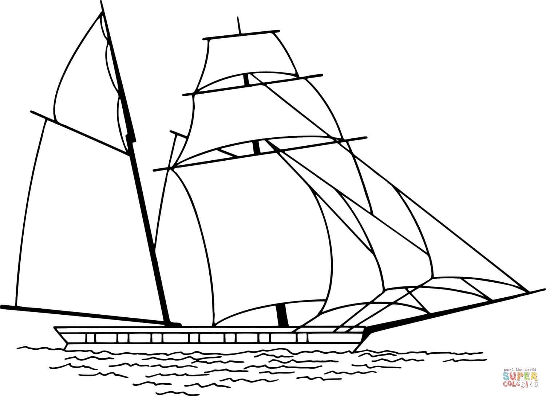 סירת מפרשים לצביעה
