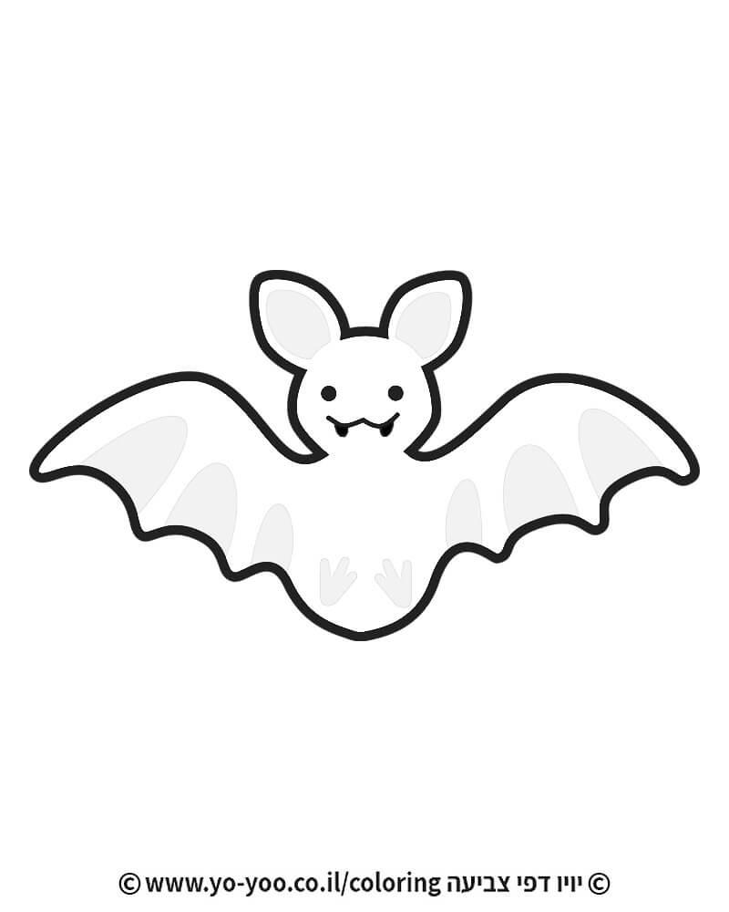דף צביעה עטלף