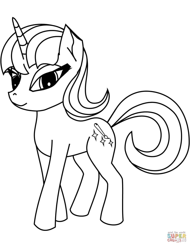 סוס פוני חד קרן לצביעה