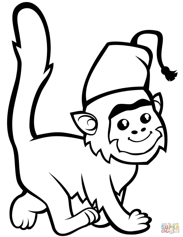 קוף עם כובע לצביעה