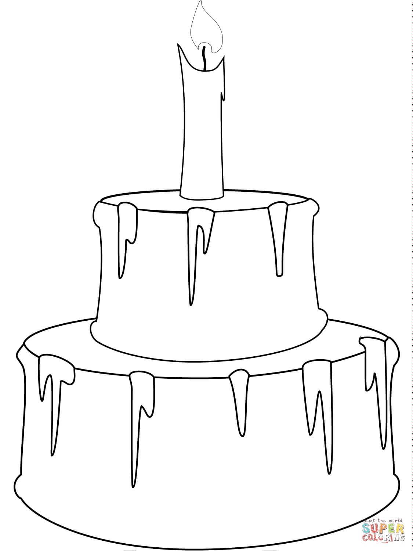 עוגה עם נר לצביעה