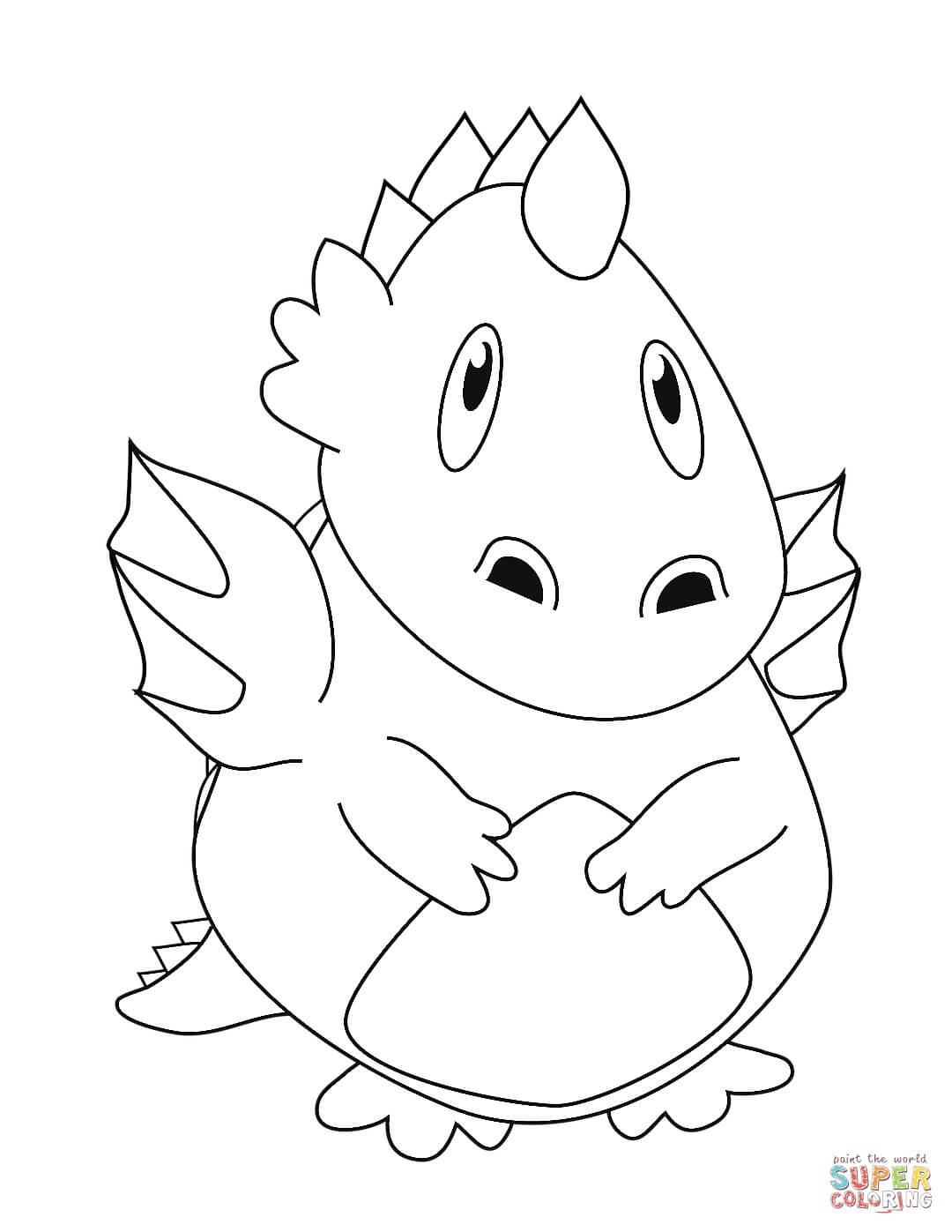 דרקון תינוק לצביעה