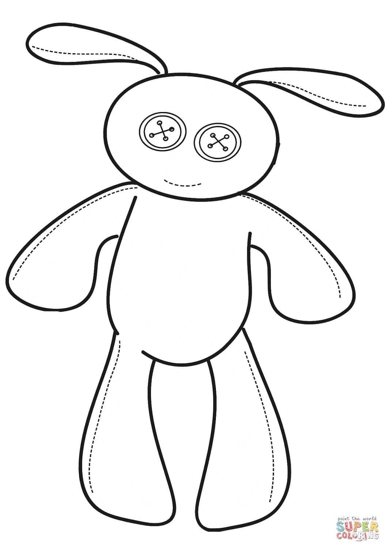 בובת ארנב לצביעה