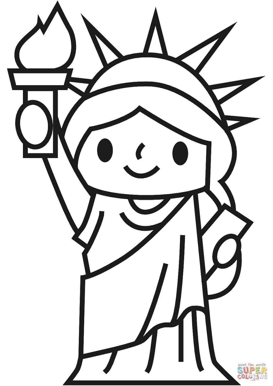 פסל החירות מצויר לצביעה