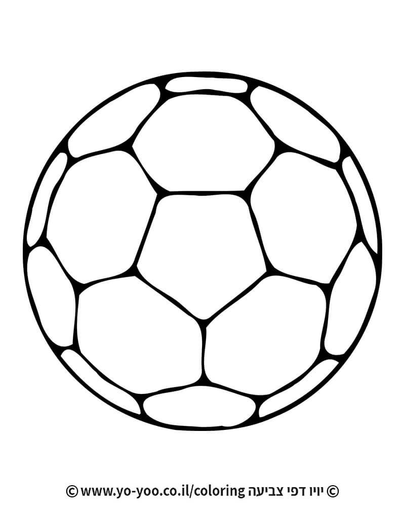 דף צביעה כדור כדורגל