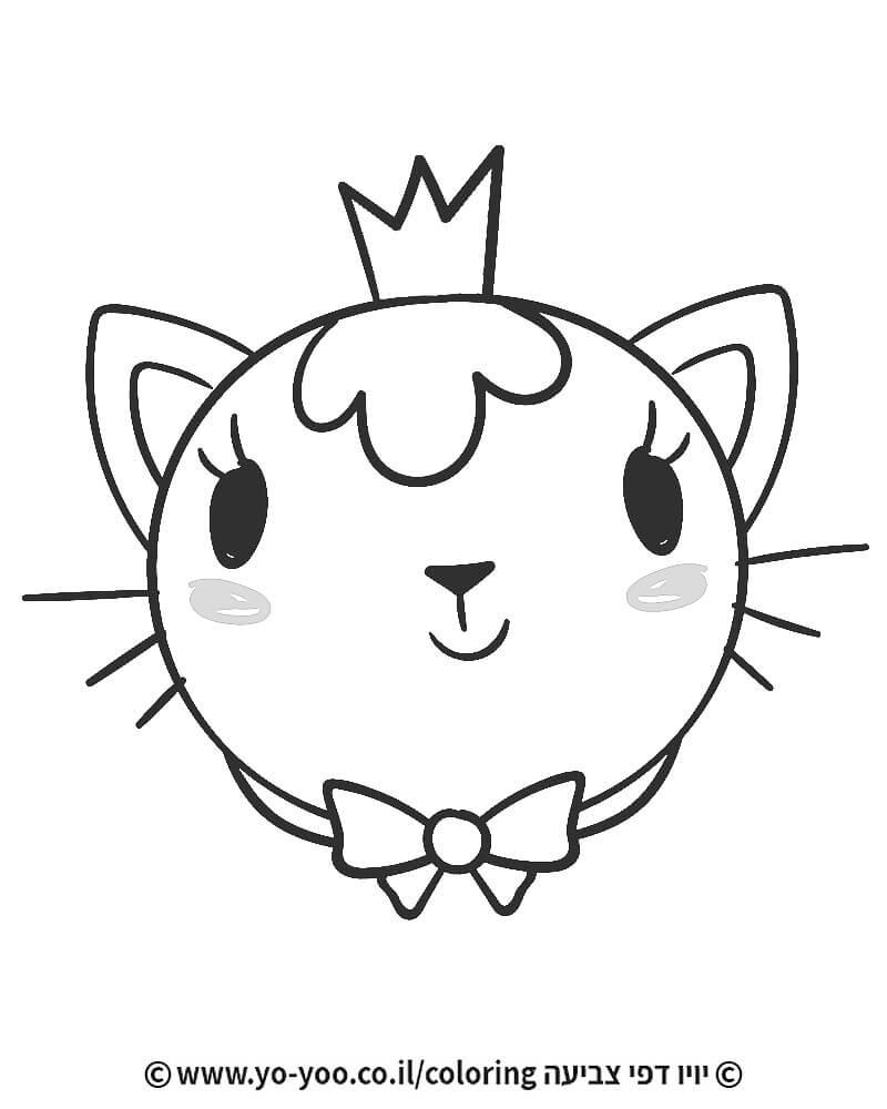 דף צביעה חתול חמוד
