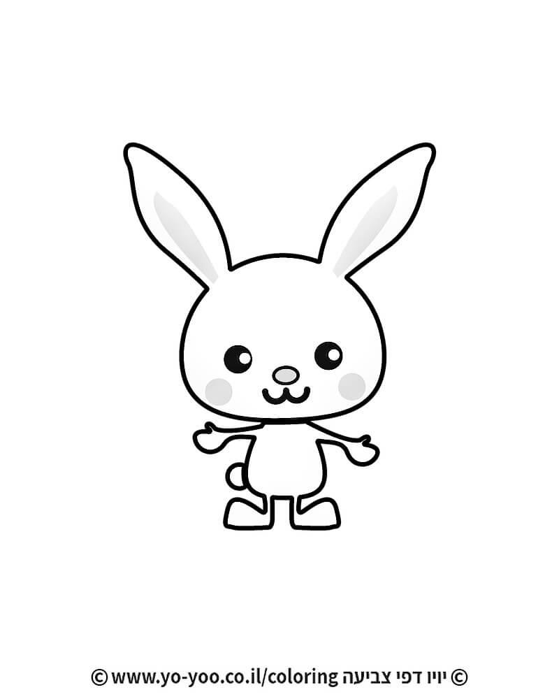 דף צביעה ארנב מתוק