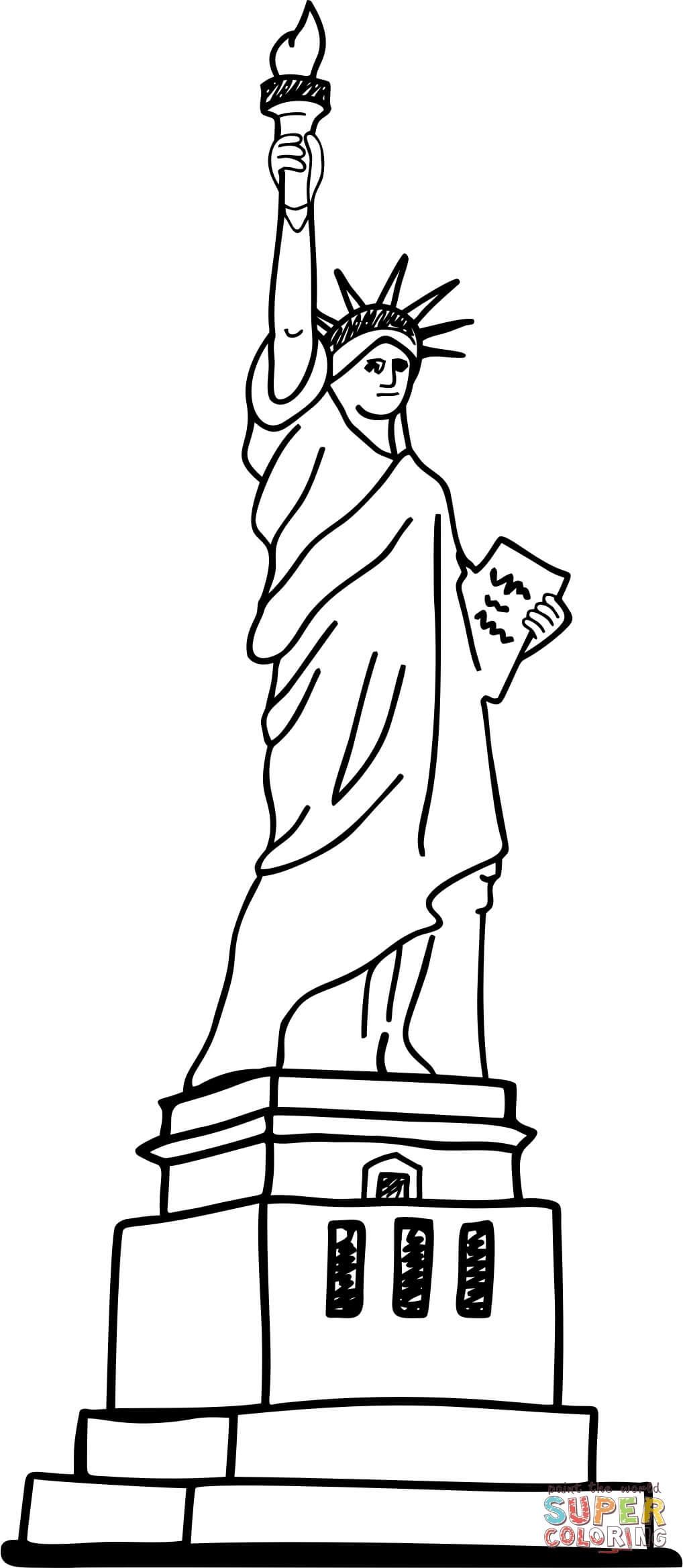 פסל החירות לצביעה