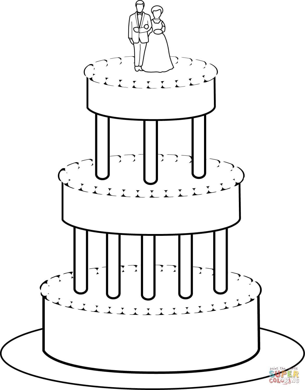 עוגת חתונה לצביעה
