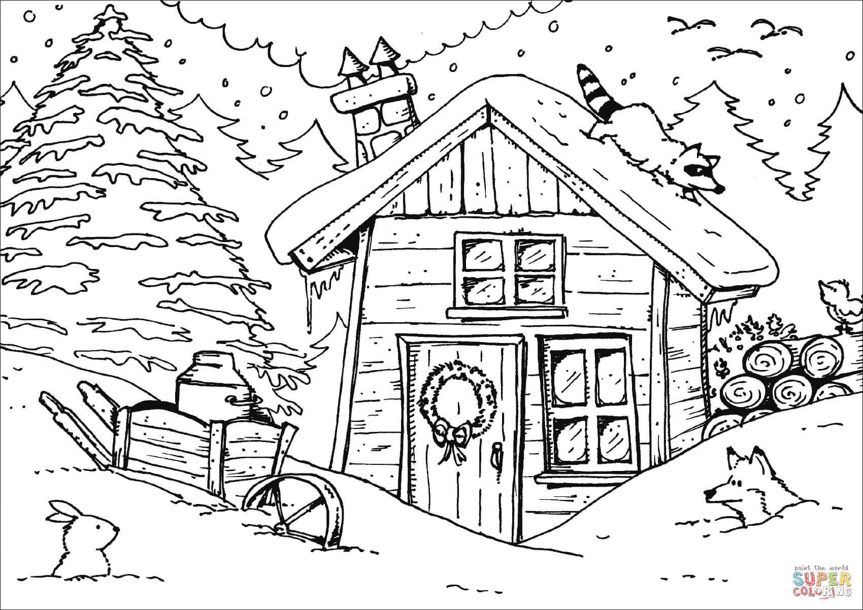 בית בשלג דף צביעה