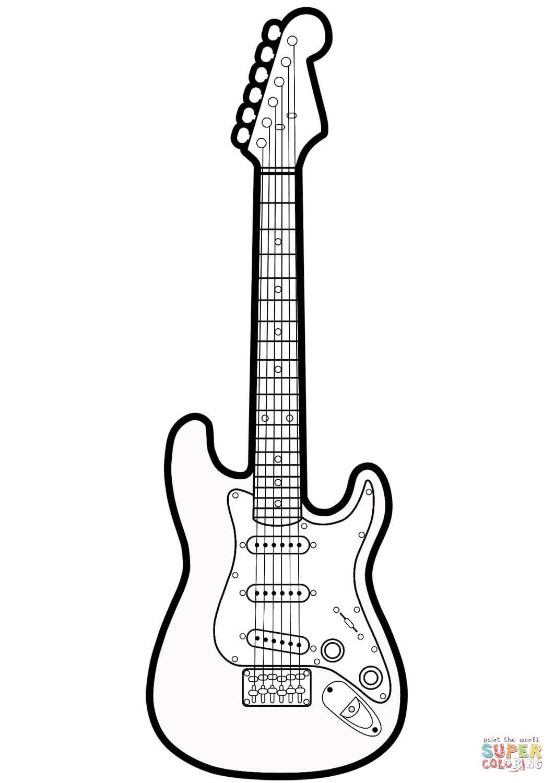 גיטרה חשמלית לצביעה