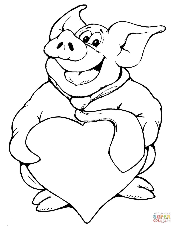 חזיר עם לב לצביעה