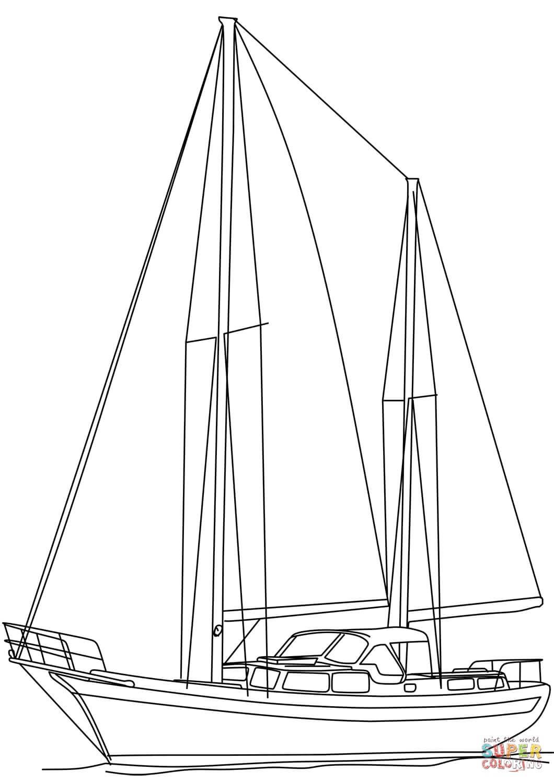 סירת מפרש לצביעה