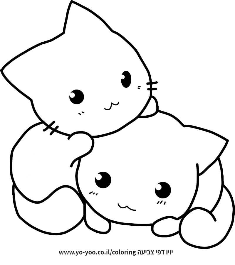 צביעת חתולים חמודים
