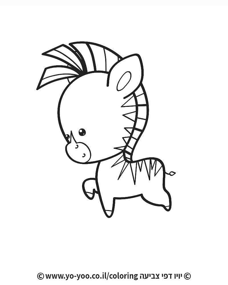 צביעת זברה חמודה