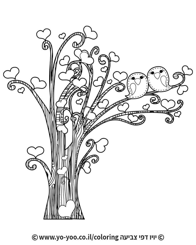 צביעת עץ לבבות