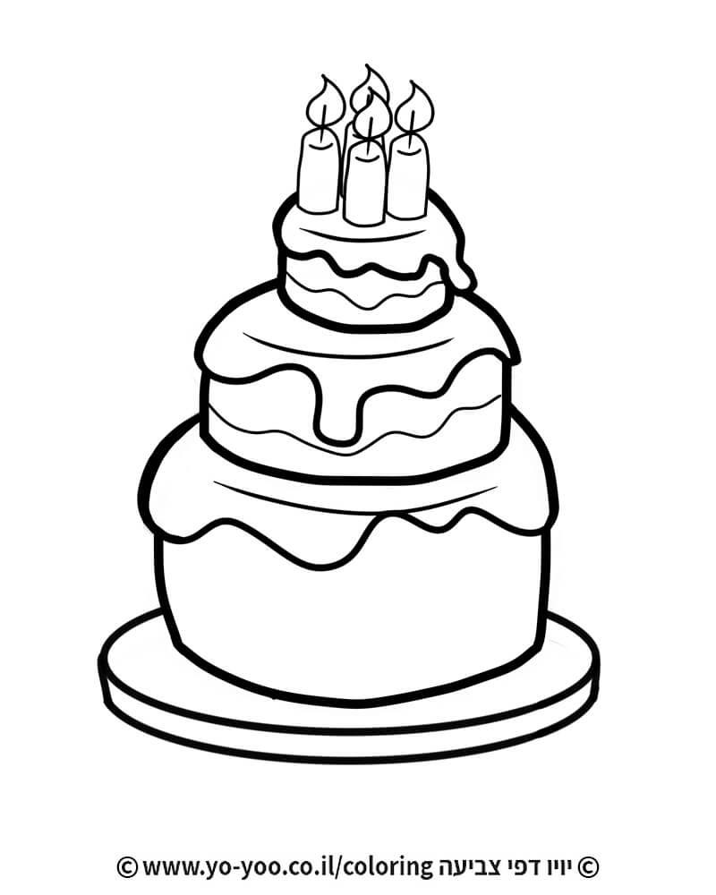 צביעת עוגת יום הולדת