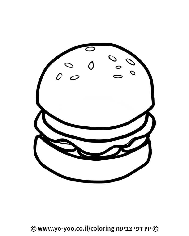 צביעה של המבורגר