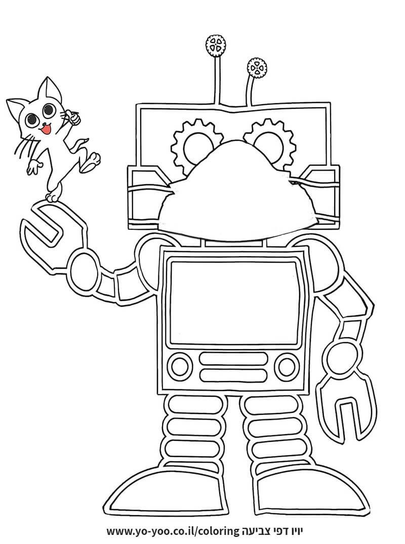 דף צביעה של רובוט