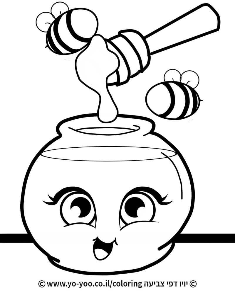 צביעת דבש מצויר