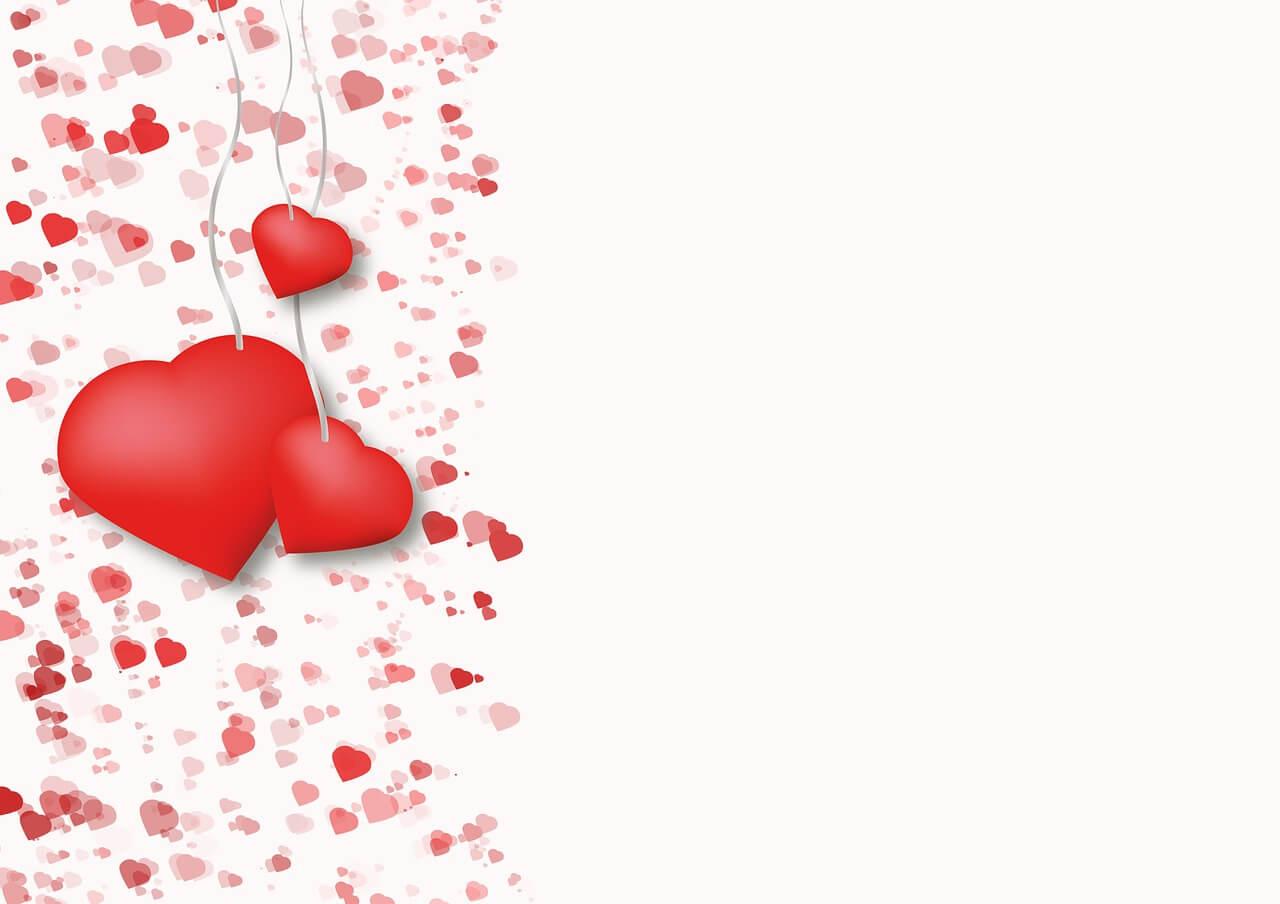 רקע יפה עם לבבות