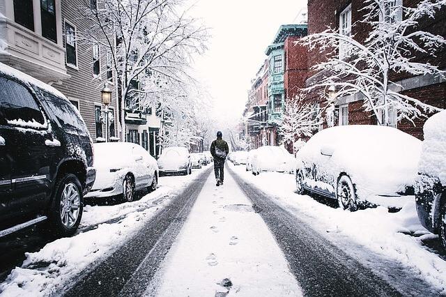 שלג - עיר מושלגת