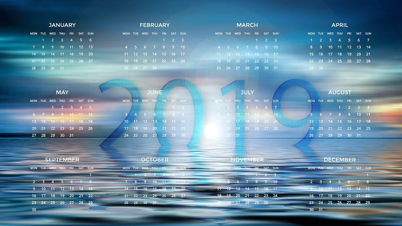 2019 לוח שנה