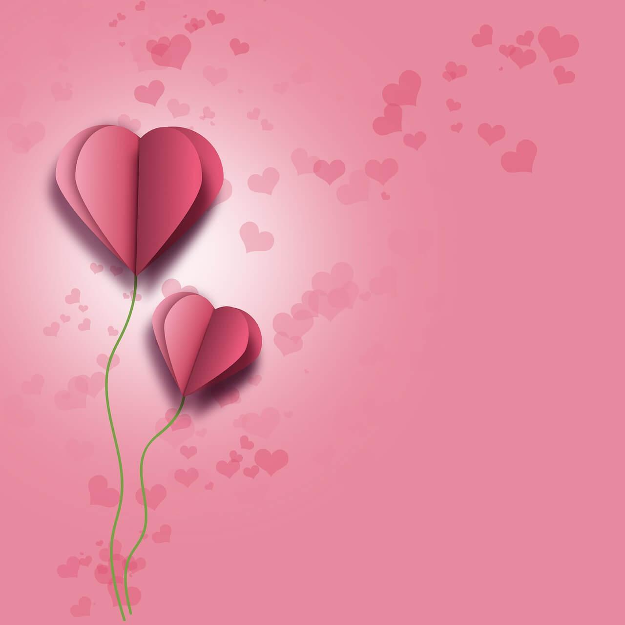 רקע עם לבבות