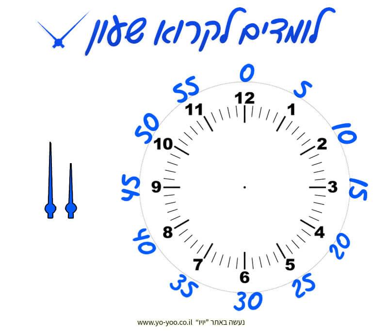הכנת שעון מחוגים