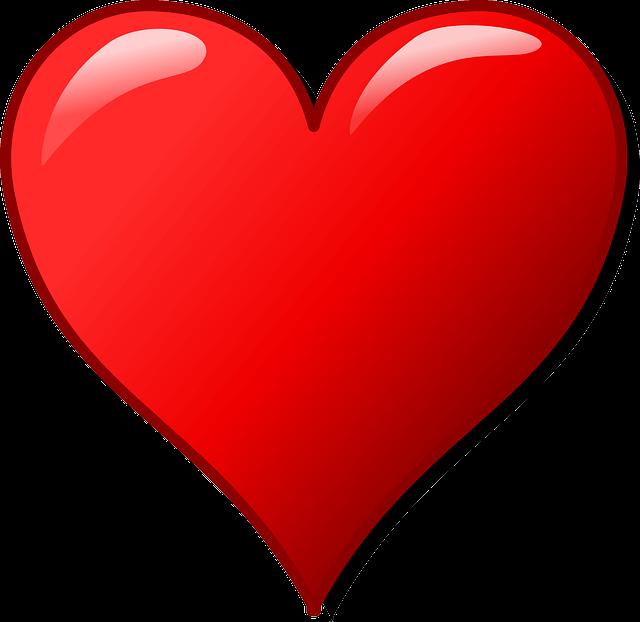 לב אדום גדול ויפה