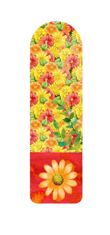סימניה עם פרחים