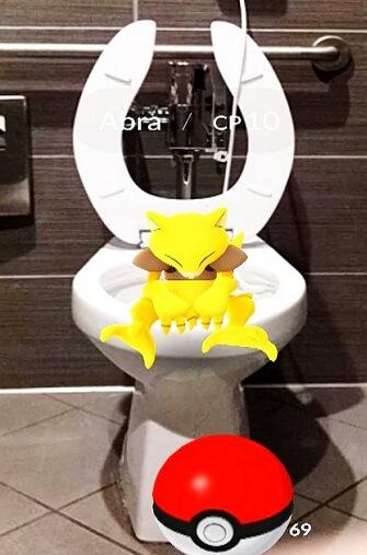 פוקימון בשירותים