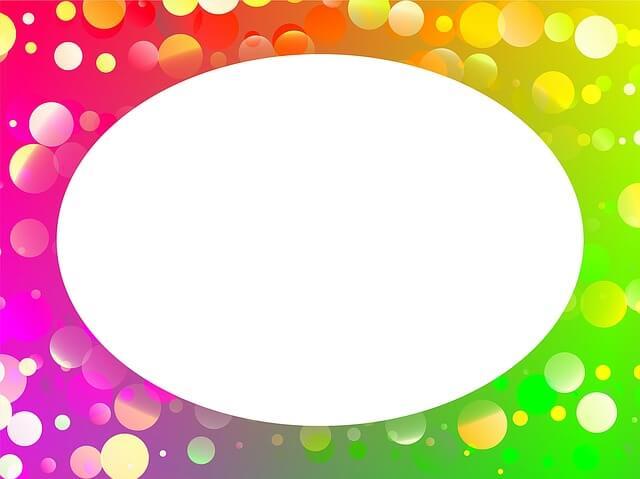 מסגרת צבעונית