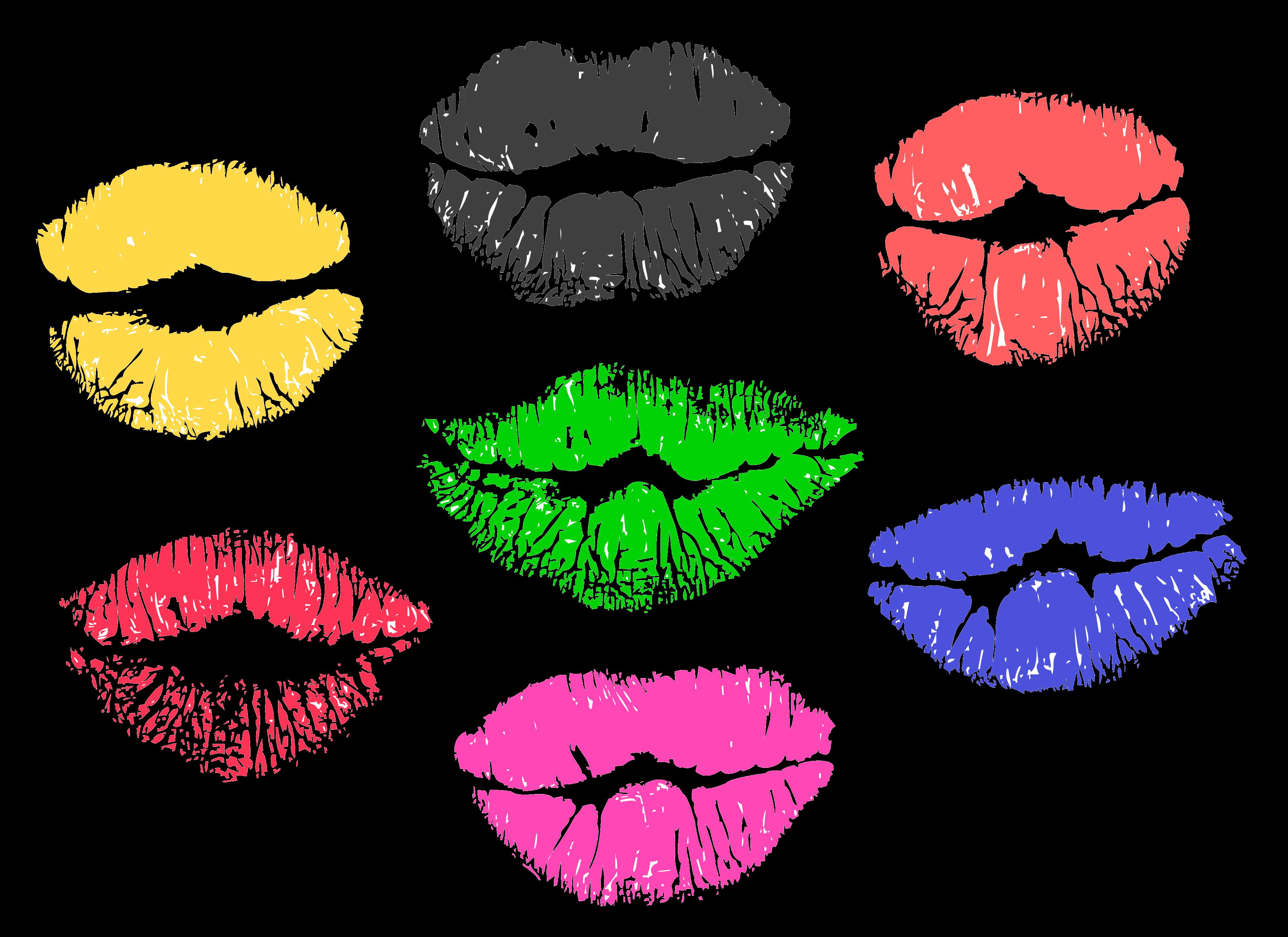 נשיקות צבעוניות , שפתיים